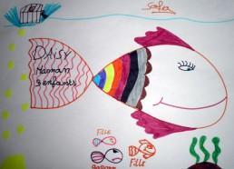 Concours dessin : Mon plus beau poisson - Daisy, Maman de 3 anfants par Sofia - CHU de Nantes Pavillon de la mère et de l