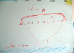 Concours dessins : Mon bateau imaginaire - Clara - Centre Hospitalier Yves Le Fol Saint-Brieuc