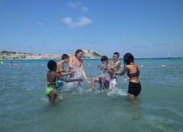 Jeux d'eau à Calvi