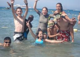 Les matelots se baignent en baie de Calvi