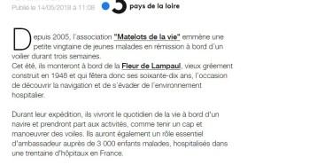 """La Plaine sur Mer : les """"matelots de la vie"""" se préparent pour leurs prochaines expéditions, France 3 14 mai 2018"""