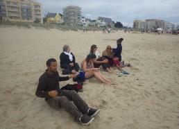 Petite détente sur la plage en fin de journée