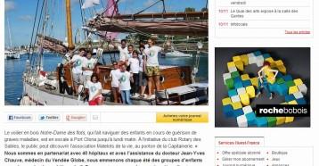 Les Matelots de la vie en escale à Port Olona, Ouest France 09/08/2013