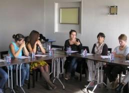 A la réunion : les représentants des hôpitaux de Caen, Saint-Nazaire et Rouen