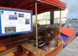 Keltia II le canot à vapeur