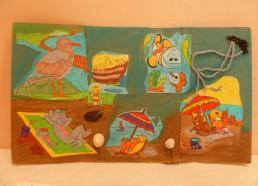 Décoration réalisée par les enfants de l'hôpital de Versaille-Le Chesnay