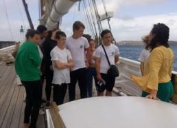Visite du Biche, thonier de l'île de Groix