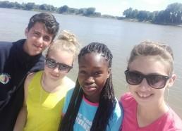 Pierre, Maëva, Djénaba et Alyssa «en Seine»