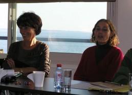 Françoise, la Présidente et Pauline, une ancienne matelote
