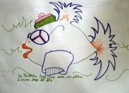 Concours dessin : Mon plus beau poisson - Poisson foufou de Mariam parce qu