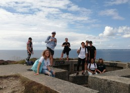 Visite des ruines de la seconde guerre mondiale