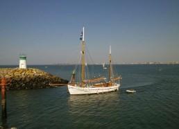 Le Notre Dame des Flots rentre dans le port de Pornichet