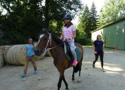 Solène sur son cheval