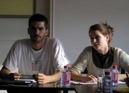 Yann et Elsa lors de la réunion