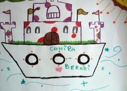 Concours dessins : Mon bateau imaginaire - Camila Bekari - Hôpital National de SAINT-MAURICE