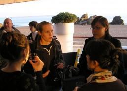 Les équipes de Saint Nazaire et Curie lors du buffet