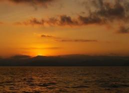 Le soleil se lève sur le Golfe de Sagone