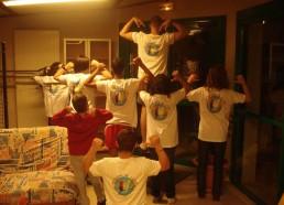 Dernière réunion poste avant les expéditions Nous avons eu nos tee-shirts, nous sommes de vrais Matelots maintenant…