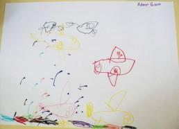 Concours dessins : Mon bateau imaginaire - Adam, 6 ans - Hôpital National de SAINT-MAURICE