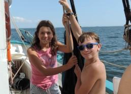 Maëlle & Corentin, nos jeunes invités à la manœuvre