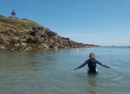 Première dans l'eau