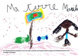Concours dessin : Ma terre idéale - Marilin - ESEAN Etablissement de Santé pour Enfants & Adolescents de la région Nantaise