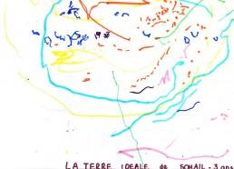 Concours dessin : Ma terre idéale - Sohail, 3 ans - ESEAN Etablissement de Santé pour Enfants & Adolescents de la région Nantaise