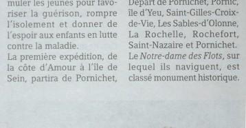 Les Matelots de la vie embarqueront à Pornichet, Presse Océan 10/07/2013