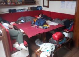 Pendant ce temps on dort en cabine