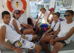 Les matelots sur l'Ultima Perla de la compagnie SPMB Bonifacio