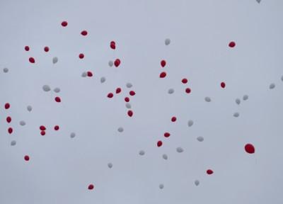 Le lâcher de ballons