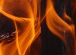 Les flammes vues de près
