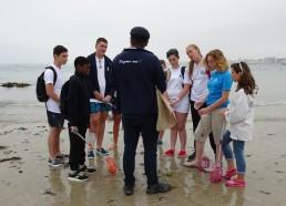 Guillaume nous sensibilise au maintien de la propreté de l'environnement marin