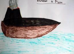 Concours dessins : Mon bateau imaginaire - Bateau à Pizza - Hôpital National de SAINT-MAURICE