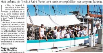 Palavas-les-Flots, Belle rencontre à bord du Fleur de Lampaul, Midi Libre 13/08/2017