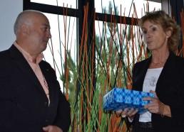 M. LARGEAU et la Présidente de l'association
