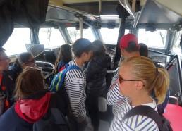 Visite de la cabine du bateau de la SNSM