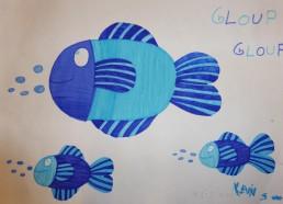 Concours dessin : Mon plus beau poisson - Kevin, 5 ans - Hôpital ANDRE MIGNOT - LE CHESNAY VERSAILLES