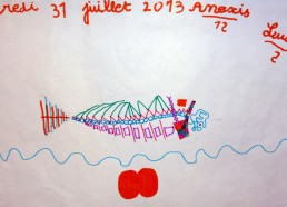 Concours dessin : Mon plus beau poisson - Lucie - Hôpital ANDRE MIGNOT - LE CHESNAY VERSAILLES