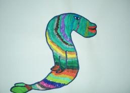 Concours dessin : Mon plus beau poisson - Murène arc-en-ciel de Mustafa - Hôpital National de SAINT-MAURICE