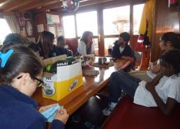 Les matelots reçoivent Karine Rigole, adjointe action sociale, solidarité, accessibilité à la Mairie de Lorient