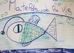 Concours dessin : Mon plus beau poisson - Poisson lanterne de Gwenaelle - Hôpital National de SAINT-MAURICE
