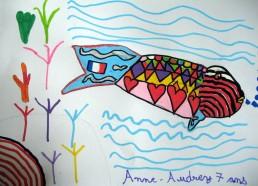 Concours dessin : Mon plus beau poisson - Anne-Audrey 7 ans - Centre Hospitalier Yves Le Fol Saint-Brieuc