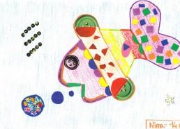 Concours dessin : Mon plus beau poisson - Nina, 14 ans - CHD Vendée La Roche sur Yon