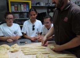 Les brins de pâte sont prêts