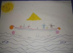 Concours dessins : Mon bateau imaginaire - Séphora, 7 ans - Hôpital ANDRE MIGNOT - LE CHESNAY VERSAILLES
