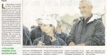 Une expérience inoubliable, Presse Océan, 28/08/2011