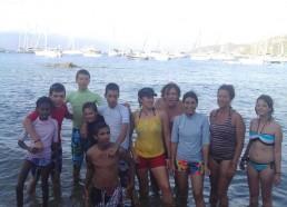 Les matelots devant le mouillage de Campomoro