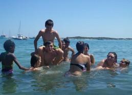 Baignade à la plage de Pianterella