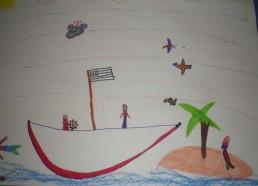 Concours dessins : Mon bateau imaginaire - Elody - Hôpital ANDRE MIGNOT - LE CHESNAY VERSAILLES